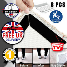 8 x Carpet Grip Anti Slip Rug Grippers Anti Curling Mat Floor Tape Silicone UK