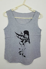 VTG GREY FAIRY NOVELTY HIPPY FESTIVAL OVERSIZED URBAN RENEWAL VEST TOP VGC UK M