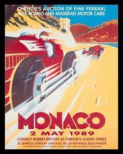 MONACO GRAND PRIX CAR RACE GARAGE WORKSHOP METAL TIN SIGN OTHER ONES LISTED 830
