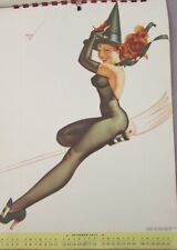 1947 PINUP CALENDAR FROM  TRUE MAGAZINE PETTY GIRL ARTIST WITH MAILER EX. COND.