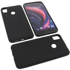 Tasche für HTC Desire 10 Pro Handytasche Schutz Hülle TPU Gummi Case Schwarz