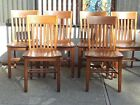 Vintage Mission Style Oak ladder Tiger Light Oak Library Dining Office Chairs