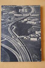 Broschüre Schweizerischer Strassenverkehrsverband (FRS) 1963, Bericht, Rapport