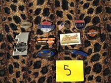 GENUINE HARLEY DAVIDSON PINS, SET OF 10 PINS LOT NUMBER #5