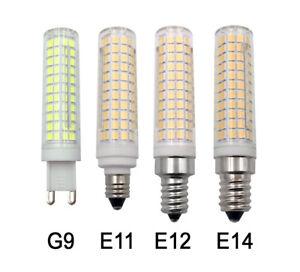 G9/E11/E12/E14 LED Light Bulb 10W 136-2835 SMD Ceramics Light Equivalent 100W