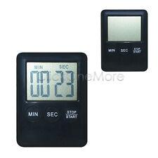Slim Magnetic LCD Digital Kitchen Timer Count Up Down Egg Cooking Alarm