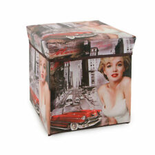 Pouf contenitore pieghevole Movie Star Smartbox salvaspazio Q874