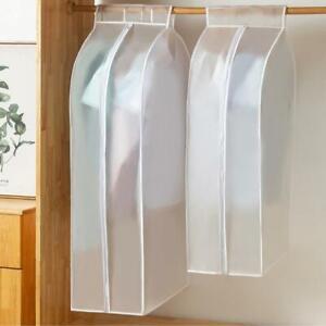 Non-woven Hanging Clothes Dust Cover Garment Storage Translucent Bag Matte D8F2