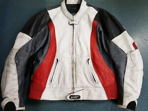 MOTORCYCLE RIVET LEATHER JACKET SIZE 44 *** FREE FREIGHT ***