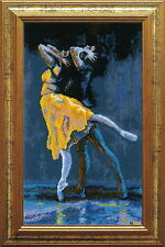 Dancers - Cross Stitch Kit with Color Symbolic Scheme SKU:481