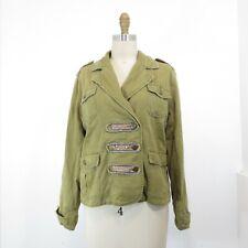 M - Da-NANG DaNang Womens Military Green Surplus Snap Front Jacket 1122CT