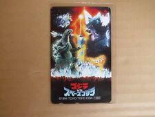 GODZILLA VS. SPACE GODZILLA Phone card japanese  movie  japan new
