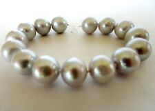 Genuine Large Fresh Water Pearl Silver Loose Strand 6.5 Inches Long 11.40 MM