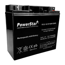 Replacement For EXP12180 12 Volt 18Ah Rechargeable Battery w/ Nuts & Bolts