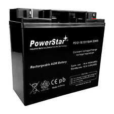 Replacement For EXP12180 12 Volt 18 Ah Rechargeable Battery with Nuts and Bolts