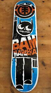 "Bam Margera Element Skateboard Deck - Unused, Good Condition - 32"" x 7.75"""
