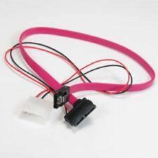 "5x 16"" Slim Line SATA to SATA Serial ATA Data + Power CD/DVD Drive Combo Cable"
