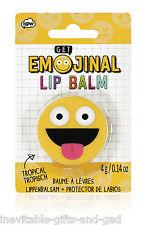 Fun Emoji Face Lip Balm Emoticon Emotion Tropical Lip Balm 4g
