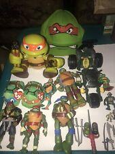 Vintage TMNT Teenage Mutant Ninja Turtles RARE Action Figures Cap Vehicles Lot