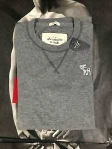 NWT Abercrombie & Fitch Men Muscle Fit Classic Logo Short Sleeve Tee T Shirt A&F