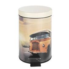 WENKO Kosmetik Treteimer Vintage Bus 3 Liter