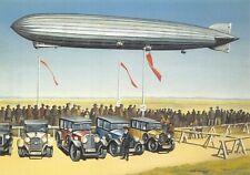 Art Postcard 1930 LZ 127 Graf Zeppelin Landing at Hangelar Bonn by Nick Walmsley