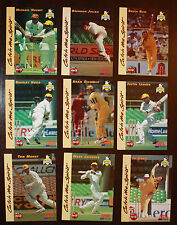 1996 Western Warriors Cricket 9 X cards Hussey Gilchrist Julian Reid Langer ++