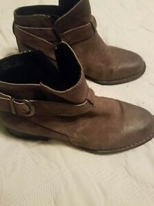 Born leather ankle boots 8.5 NEW taupe brown womens