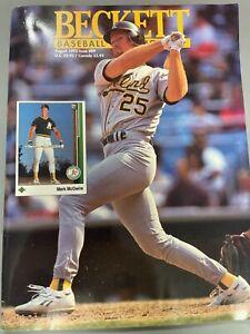 Beckett Baseball Card Monthly Magazine Mark McGwire August 1992