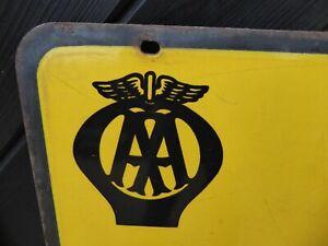 Antique / Vintage Enamel AA Sign / Enamel AA event Road sign 75cm x 45cm