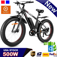 26/20inch*4.0 Fat Tire Electric Bike Bicycle 500W 48V eBike Mountain Beach Snow,