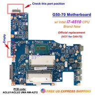 New Lenovo G50-70 ACLU1/ACLU2 UMA NM-A272 i7-4510 CPU Motherboard
