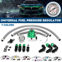 Universal Adjustable Fuel Pressure Regulator 100Psi Gauge AN6 Fittings Kit