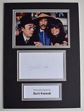 Burt Kwouk Signed Autograph A4 photo display Pink Panther Cato AFTAL & COA