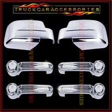 For JEEP Liberty 2008-2011 2012 Chrome Covers Set Full Mirrors+4 Door Handles