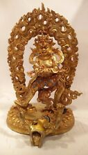 10 inch (25cm) Chakrasamvara Copper Statue Gold Plated