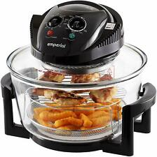 Emperial 17L Halogen Convection Oven Cooker Air Fryer with Extender Ring Black