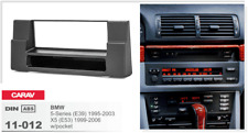 CARAV 11-012 1Din Marco Adaptador Kit de Radio BMW 5-Series E39, X5 E53, negro