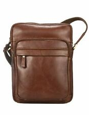 Visconti VT1 Vintage Tan Genuine Leather Messenger Bag  Handbag Cross-body