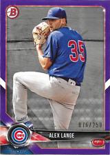 2018 Bowman Purple Paper /250 #BP54 Alex Lange - Cubs Prospect
