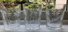 Set of 3 Vintage Cut Crystal Whiskey/Rocks/Drinking Glasses 8 oz
