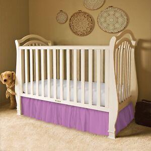 Baby Crib Skirt Ruffled, Tailored, Standard, and Portable Crib