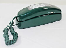 Vtg AT&T Trimline 210 Push Button Lighted Dial Green Wall Desk Telephone TESTED