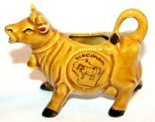 Wisconsin America's Dairyland Ceramic Brown Cow Creamer