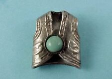 Vintage Sterling Silver COWBOY VEST with Turquoise Western Charm