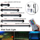 Underwater Lámpara RGB LED Aire Burbuja Acuario Fish Tank Luz Tira Sumergible