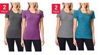 NEW Ladies' Weatherproof 32 Degrees COOL 2-Pack Short Sleeve Scoop Neck Shirts
