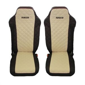 IVECO Stralis Truck Seat Covers  BLACK BEIGE 2 piece (1+1)