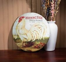 Rustic Metal Rooster Advertising Bottle cap Sign Country Farmhouse Home Deco