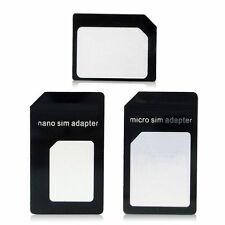 Nano SIM Card Adapter Black Fits for IPhone 6S, 6,5,5S,4S 5C